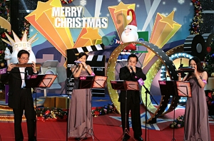 X'mas performance at Sheung Tak Shopping Centre in 2007