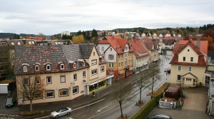 View from hotel room in Trossingen Germany