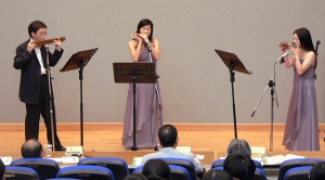 Harmonica trio playing Scherzo from Harmonica Concerto III
