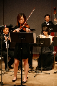 Playing Brandenburg Concerto No.5 by Bach with guests