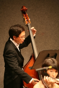 Lung played Double Bass