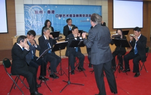 Harmonica Art Exchange between Hong Kong & Hangzhou in Hangzhou in 2007 (刀茅巷小學)