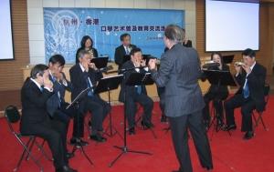 Harmonica Art Exchange between Hong Kong & Hangzhou in Hangzhou in 2007 (刀茅巷小學)